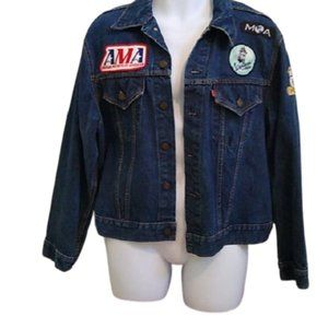Levi's Jacket w/ AMA, Vespa + BMW patches